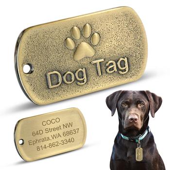 Ze stali nierdzewnej Dog ID Tag spersonalizowane psy tagi tabliczka znamionowa Anti-lost Pet wisiorek dla obroże dla zwierząt naszyjnik darmowe grawerowanie tanie i dobre opinie ZNACZKI IDENTYFIKACYJNE Stałe STAINLESS STEEL wszystkie pory roku Didog Pet Collar Pendant Accessories Retail Wholesale Dropshipping