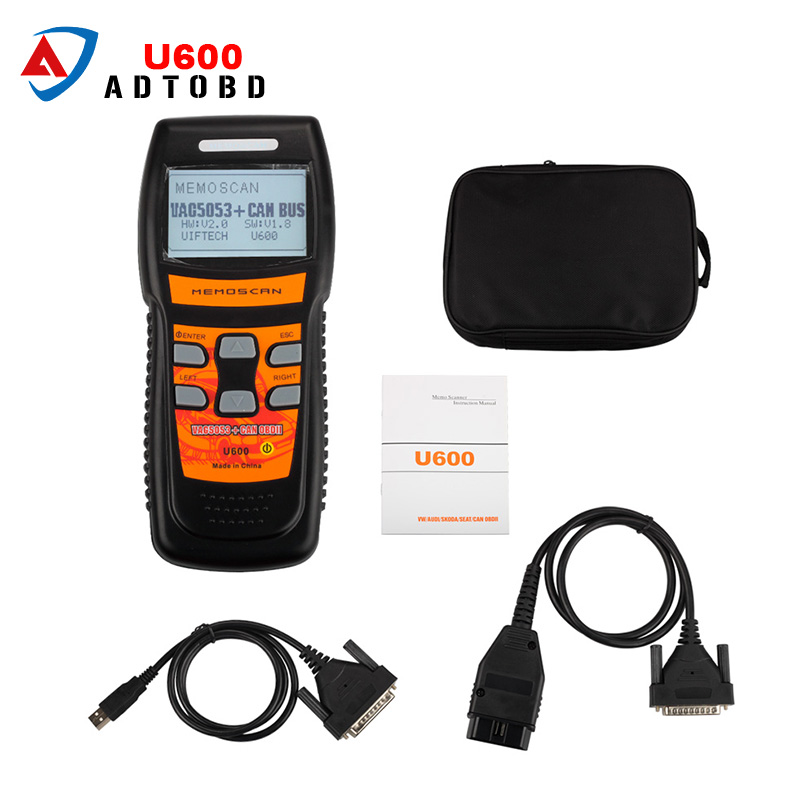 Memoscan U600 Code Reader for AUDI for VW OBD2 Scan Tool with Multi-language Car Auto Diagnostic Scanner Free Shipping car diagnostic scanner konnwei kw809 vag405 obdii can code reader tool for vw audi