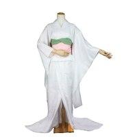 Bleach Rukia Kuchiki Zanpakuto Sode no Shirayuki White Kinomo Cosplay Costume C018