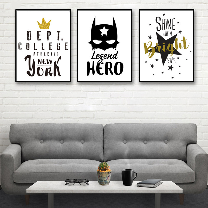 Painting, Room, Nordic, Superhero, Batman, Star
