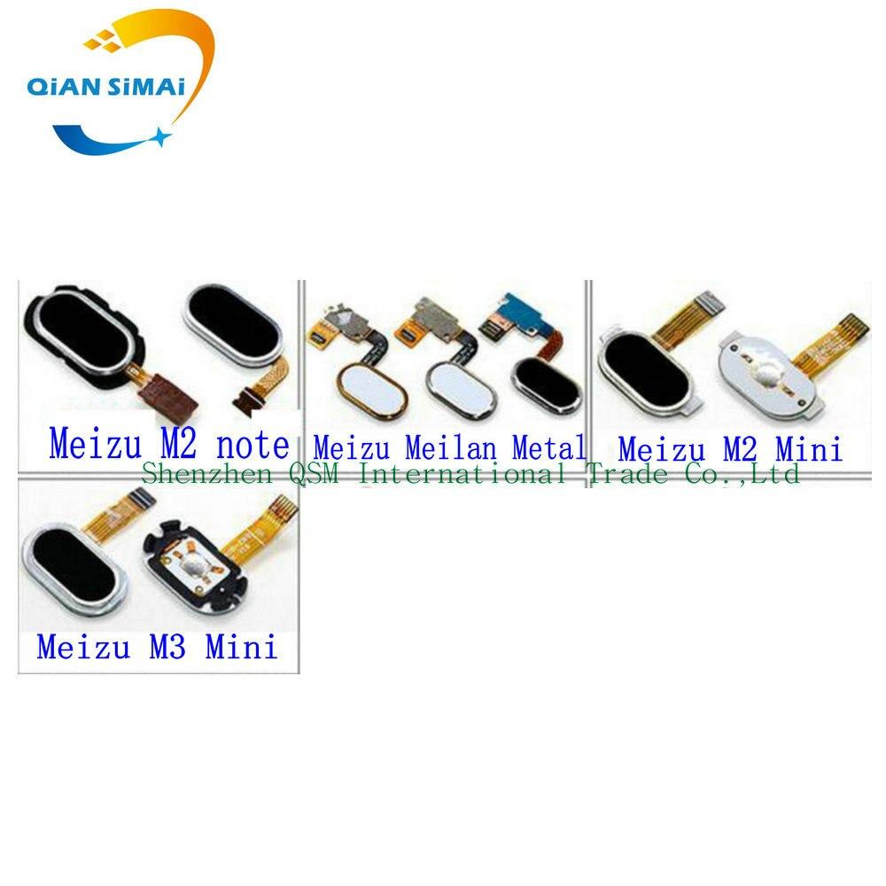 1PCS New Fingerprint Sensor Home Button Return Flex Cable For Meizu M2mini M3 Mini Metal M2 NOTE Phone Free Shipping