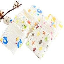 5Pcs 100% Cotton Gauze Newborn Baby Towel Set Kids Infant Cartoon Face Bathing Towel Feeding Bibs Square Towels Handkerchief
