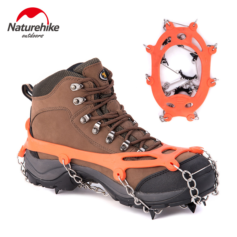 Naturehike Outdoor Crampon ice claw non-slip shoe cover snow climbing equipment climbing nail 8 teeth simple ice Shoe Boot Grips