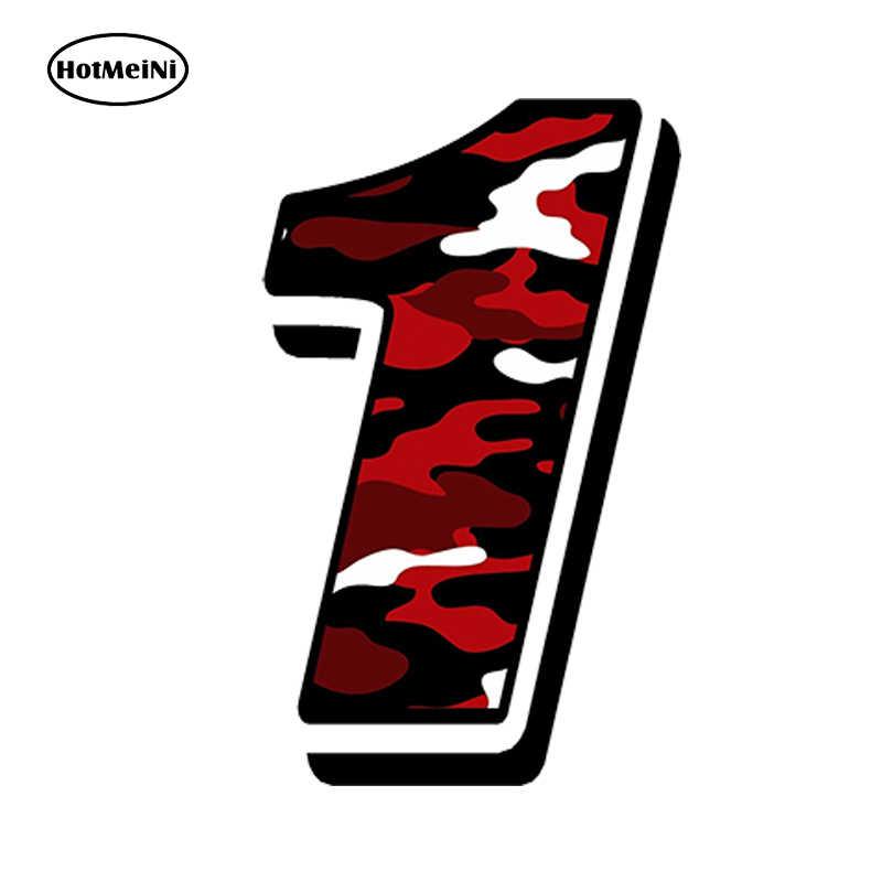 HotMeiNi 13*10 cm estilo coche carreras números vinilo camuflaje rojo coche pegatinas MOTOCROSS AUTO bicicleta ATV accesorios impermeables