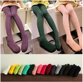 Y30513014 2015 New Spring Autumn Baby Girls Tigths Cotton Solid Knitting Candle Color  Toddler Girls Stockings Girls Clothes