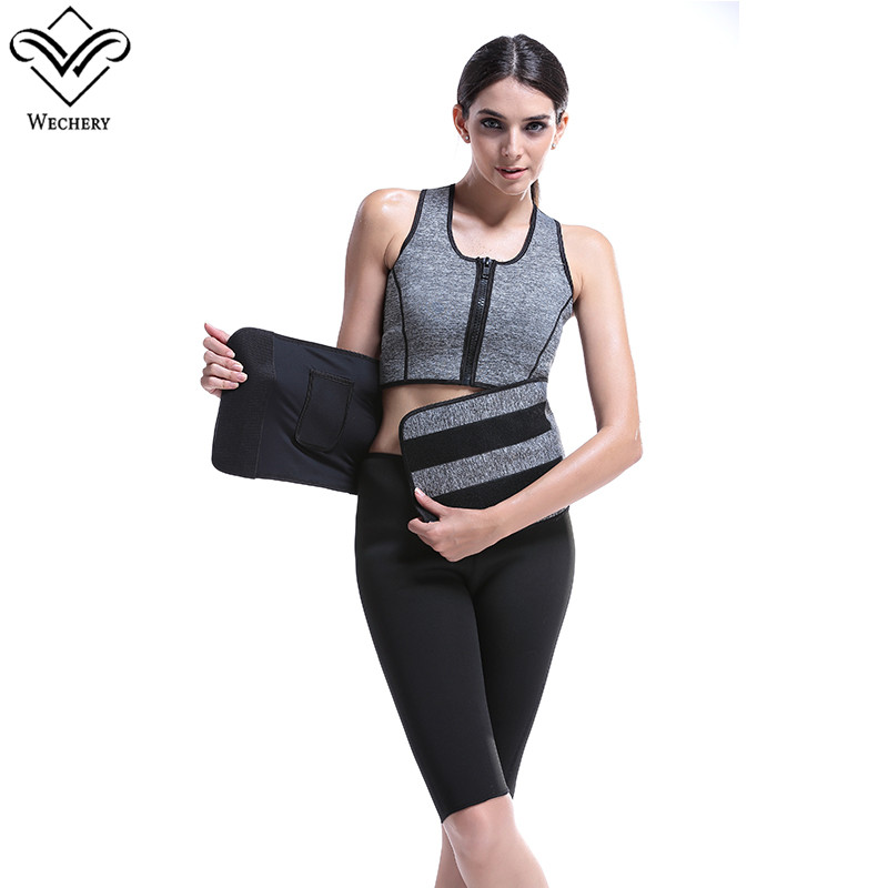 Wechery Hot Shapers Modeling Strap Waist Trainer Corsets for Sweat Vest Neoprene Tops With belly Belt Body Shaper Slimming Vests