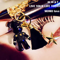 Bomgom Cartoon Popobe Gloomy Bear Momo Vinyl Tassel Keychain Key Chain Bag Ornaments Pendant Kids Toys Doll Keyring F31