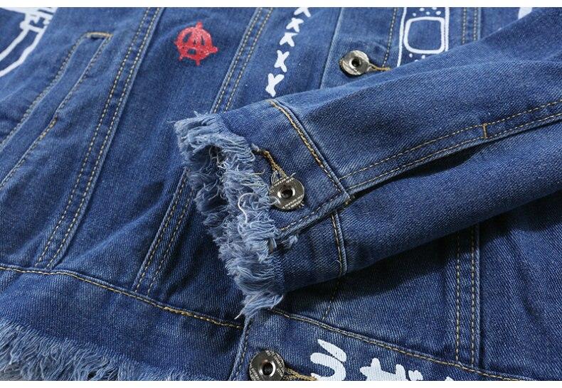 HTB1byzBXjzuK1RjSspeq6ziHVXad Hip Hop Fashion Printed Jeans Jacket Men Cotton Casual Streetwear Autumn New Denim Jacket Coat For Men