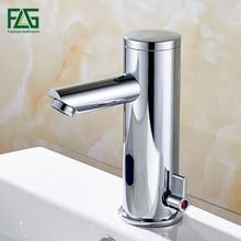 FLG сенсор Кран Автоматический Inflrared Датчик Ручной сенсорный кран Горячий Холодный Смеситель хромированный смеситель для раковины, кран для раковины ванной комнаты