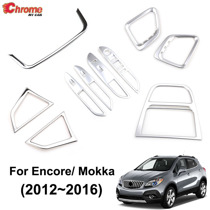 Chrome Door Window Switch cover trims For Ford Ecosport 2013 2014 2015 2016 2017