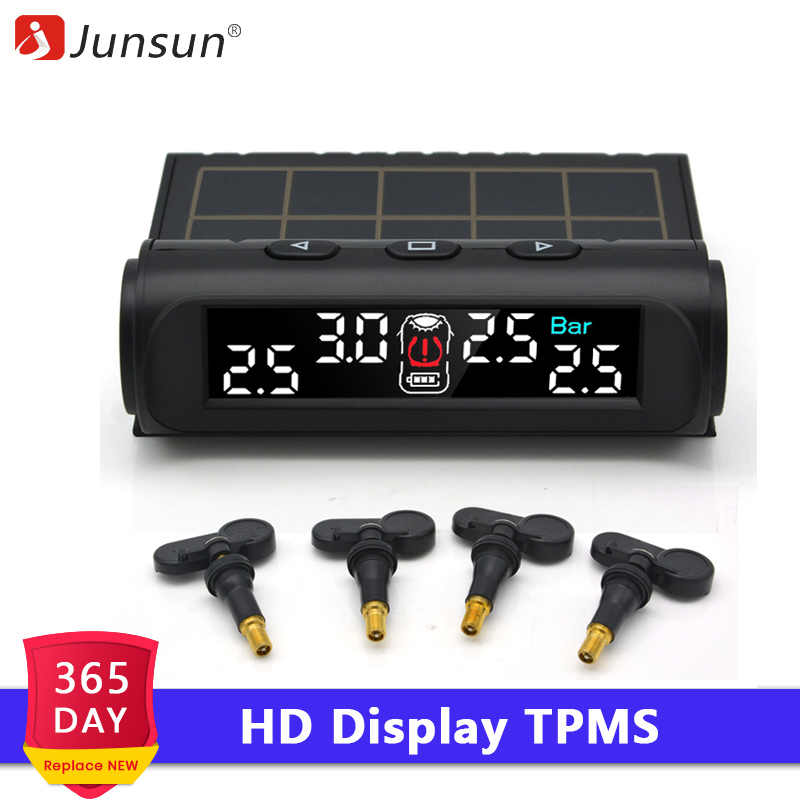Hot TPMS Solar Tire Air Pressure Sensor Fit Wireless Monitoring Detection System