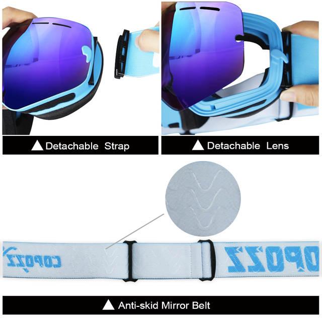 4f8fb51a15952 placeholder COPOZZ marca óculos de esqui profissional lente anti-fog UV400  camadas duplas grandes óculos de
