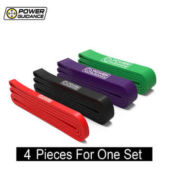 POWER GUIDANCE 4PCSet-Pull Up Assist Bands-Stretch Resistance Mobility Band- for Body-building Indoor Sports Fitness Yoga Straps - DISCOUNT ITEM  43% OFF All Category