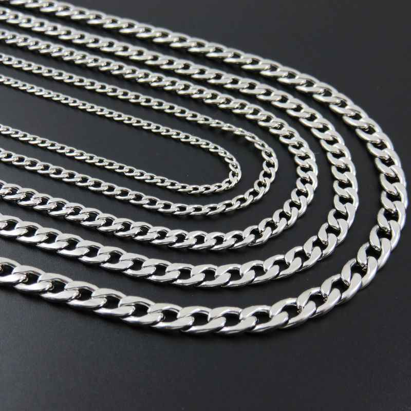 3/4/5/6/7mm 16inch-36inch Stainless Steel Figaro Chain, Stainless Steel Nk Necklace For Man & Women Fashion Gift Jewelry