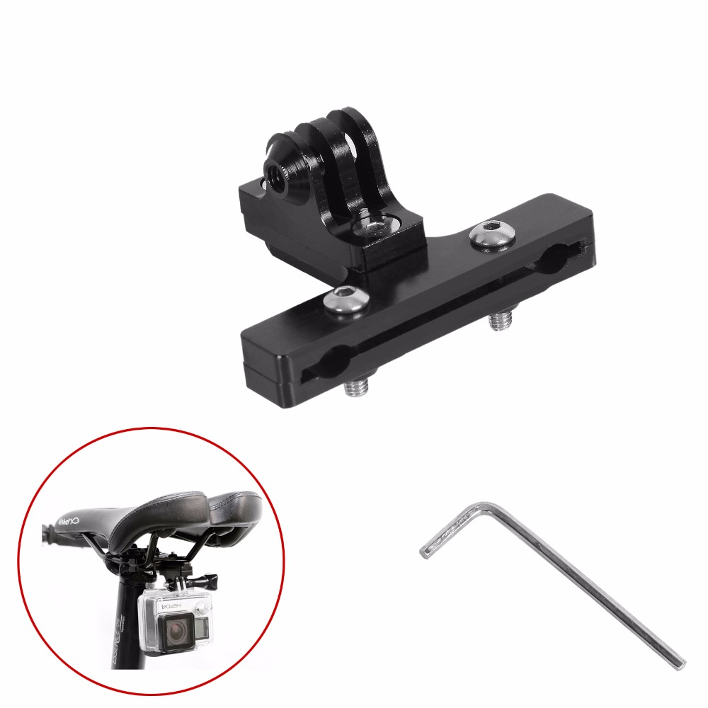 Aluminum GoPro Accessories Bicycle Saddle Rail Seat Lock Mount For Go pro Hero 5 4 3+ 2 1 SJ4000 xiaomi yi GP284 Clamp Bike Clip|bike xiaomi|sj4000 lockrail mount gopro - AliExpress