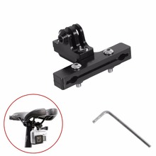 Aluminum GoPro Accessories Bicycle Saddle Rail Seat Lock Mount For Go pro Hero 5 4 3+ 2 1 SJ4000 xiaomi yi GP284 Clamp Bike Clip
