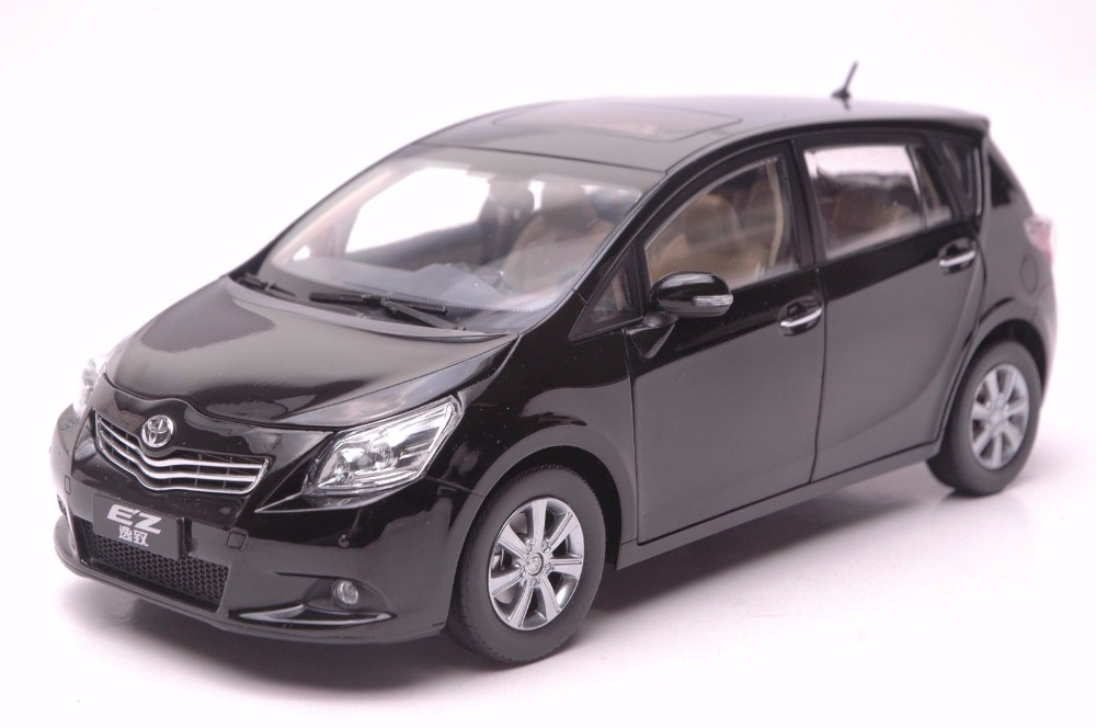 1:18 Diecast Model for Toyota E'Z Verso Black Alloy Toy Car Miniature Collection Gift EZ