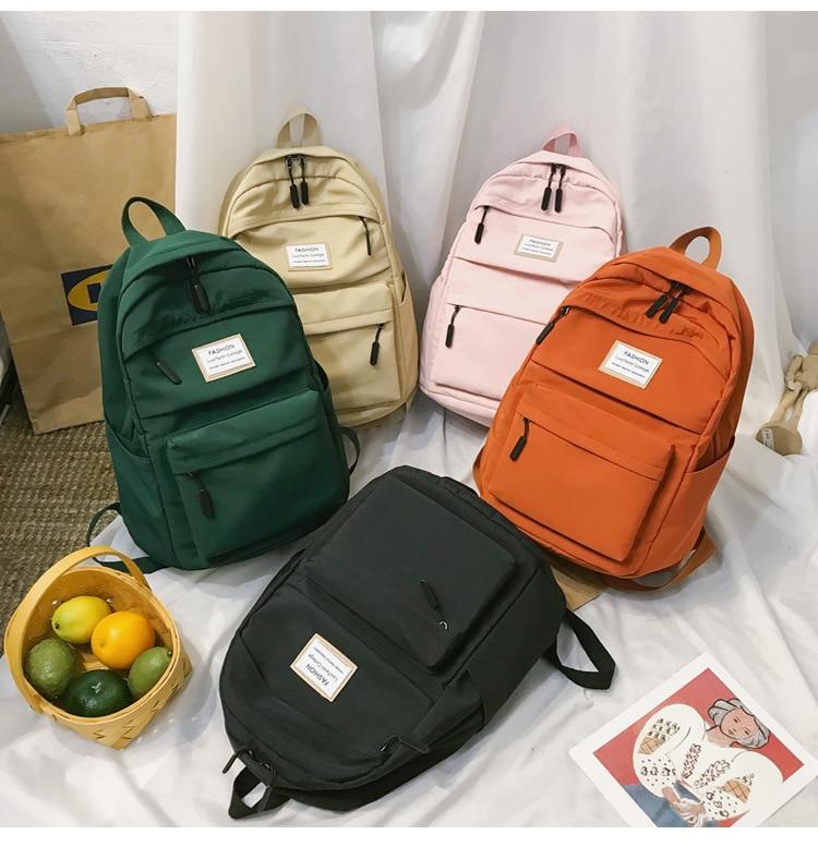 HTB1bz.5cSSD3KVjSZFKq6z10VXaq 2019 New Backpack Women Backpack Fashion Women Shoulder nylon bag school bagpack for teenage girls mochila mujer