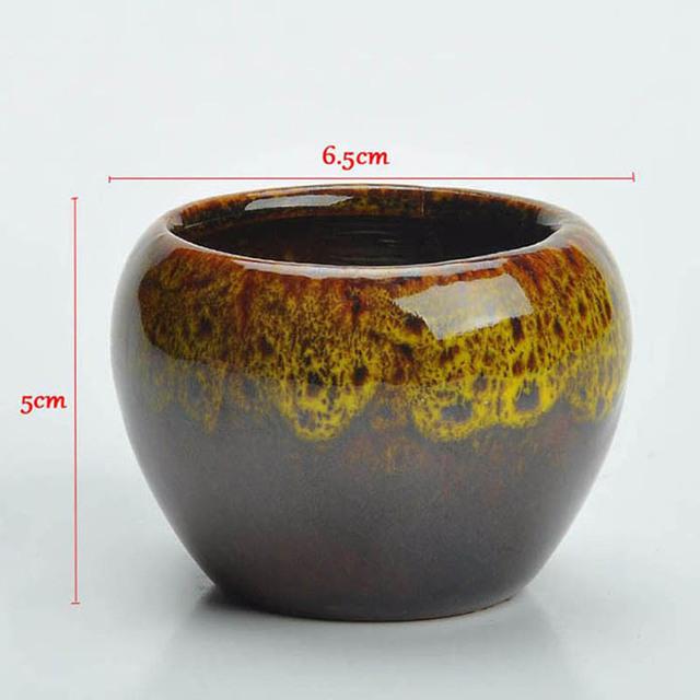 YeFine European Creative Succulents Bonsai Pots Home Decor Ceramic Crafts Ornaments Desktop Mini Fleshy Flowerpots For Plants