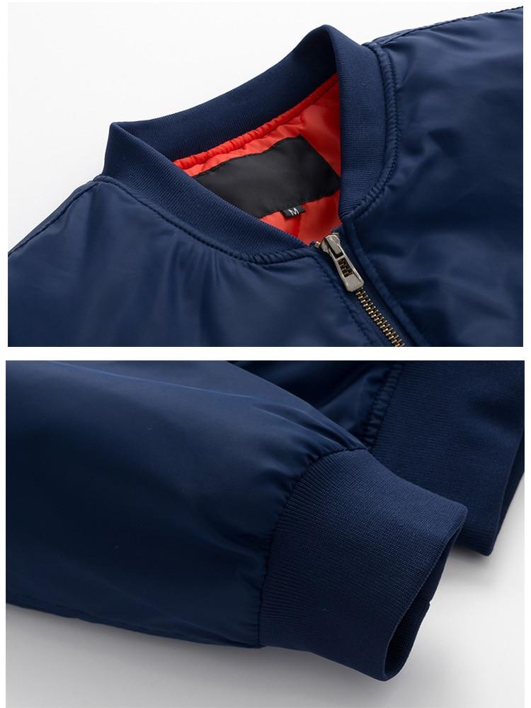 Image 4 - US Size Custom Logo Design Men Flying Jacket DIY Printing Zipper Coat Thicken Jacket Unisex Outerwear-in Jackets from Men's Clothing