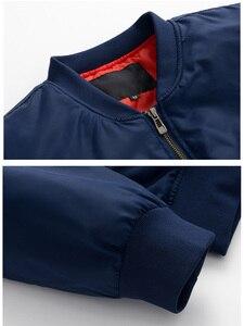 Image 4 - 미국 크기 사용자 정의 로고 디자인 남자 비행 자 켓 diy 인쇄 지퍼 코트 thicken jacket unisex outerwear