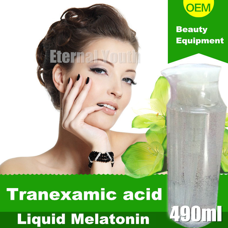 Tranexamic Acid Solution Liquid Blemish Whitening Melatonin Speckles Freckles Best Whitening Cream For Face 490ml 1 bottle melatonin softgel melatonin soft capsule improve health anti aging protect prostate improving sleep