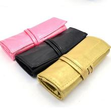 Portable PU Leather 7 Piece Cosmetic Makeup Brush Bag Pouch
