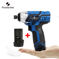 Prostormer 12v dc motor 2400rpm Electric Screwdriver with 2 batteries led driver Cordless Screwdriver Rechargeable Screwdrivers