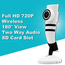 720P Mini IP Camera WIFI 1.0MP Baby Monitor Wireless Indoor CCTV Audio Camera 180 Fisheye Remote Home Smart Surveillance Camera