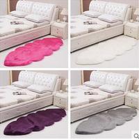 Customizable Hairy Cloud Carpet Sheepskin Chair Cover Soft Bedroom Faux Mat Seat Pad Plain Skin Fur Area Rugs Washable mat