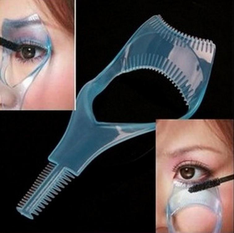 Eyelash Comb 5 In 1 Pink Mascara Applicator Template Eyeliner Models Guide Card Shaping Kit Makeup