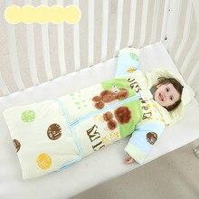 Ребенка спальный мешок осень и зима раздел хлопка утолщение съемный рукав новая anti-kick детей спальные мешки