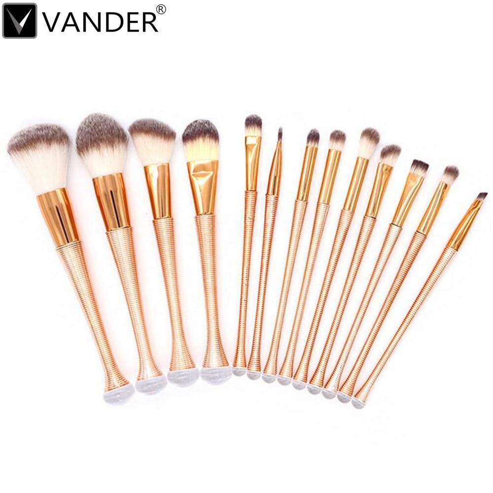 13Pcs/ Lot High Quality Makeup Brushes Set Powder Foundation Eyeshadow Eyeliner Lip Brush Tools Brush Thread Highlighter Brushes