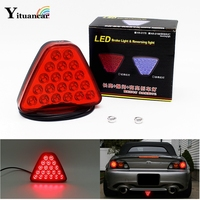 1Pcs 20 LEDs Car Truck Trailer Tail Light LED Brake Stop Signal Reversing Warning Lamp Red Color Triangl Strobe Styling Source