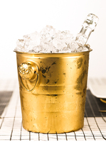 Golden Thick Tiger Head Stainless Steel Ice Bucket Champagne Chilled Bbeer Red Wine Ice Cube Bucket