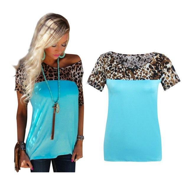 Новая Мода Леопарда Печатных Женщин Блузки Лоскутные Материнство Топы Блузки С Коротким Рукавом Рубашки Женские Случайные Blusas Femininas