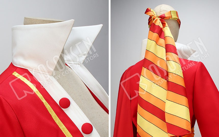 One Piece 15th Anniversary Monkey D Luffy Cosplay Costume Full Set With Hat
