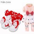 12 Pairs Детские носки стерео цветок хлопка принцесса детские носки скольжению резиновые девушки весна осень 0-1 год девочки носки