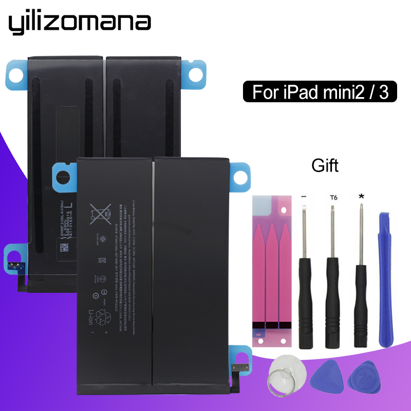 YILIZOMANA Battery For Tablet Replacement Apple Mini Original A1489 A1599 IPad 2 3-6471mah