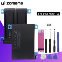 YILIZOMANA Original Tablet Battery For Apple iPad Mini 2 3  6471mAh  A1489 A1490 A1491 A1599 Replacement Li-ion battery + Tools mallper replacement 3 7v 1000mah li ion battery for samsung corby 2 s3850 s5530 more orange