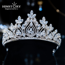 Himstory Crown Headband Vintage Bridal Hair Accessories Sparkling High Quality Zircon  Elegant Princess Jewelry