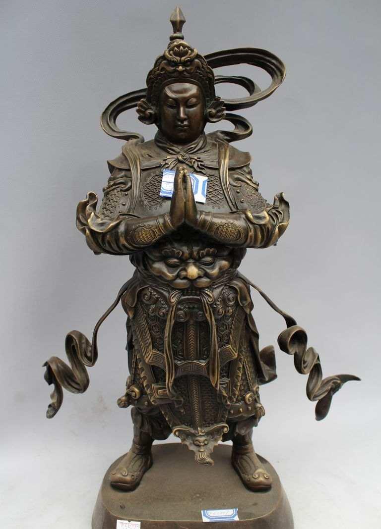 19 Tibet Budizm Bronz Istasyonu Veda Buda Wei-tuo skanda pusa Heykeli19 Tibet Budizm Bronz Istasyonu Veda Buda Wei-tuo skanda pusa Heykeli