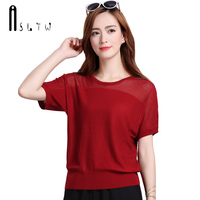 ASLTW 5 Colors Women Summer T Shirt 2017 New Fashion Hollow O Neck T Shirts For
