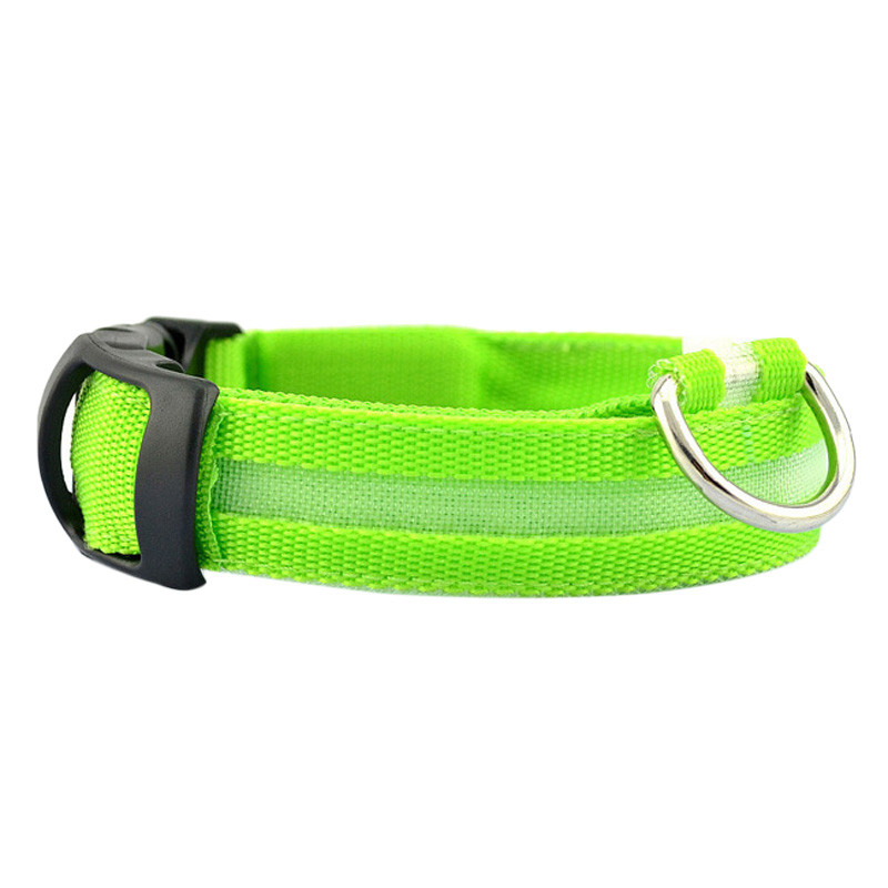 Fashion candy color LED Dog Collar Flashing In Dark Nylon 3 Mode Lighting Safety LED Pet Collar Wide Luminous Pet Products 6