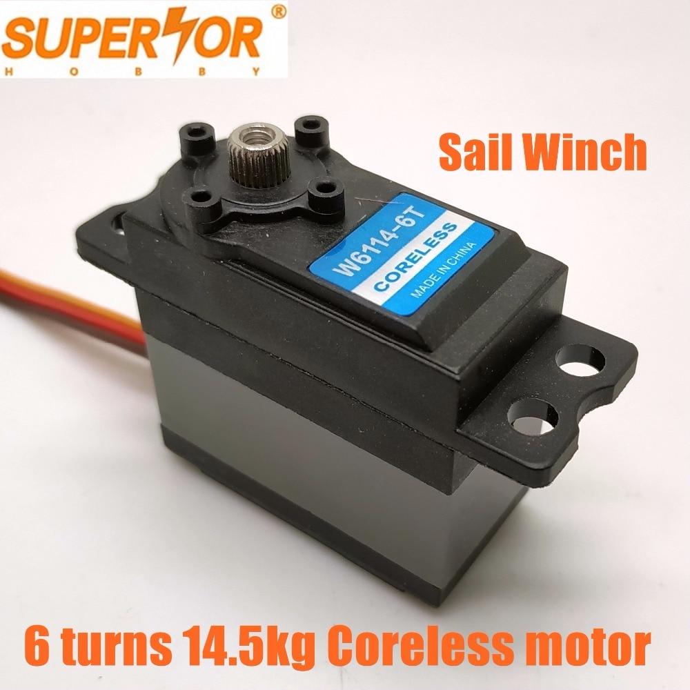 Superior Hobby SW6114 6T 14 5kg cm 6 turns Metal Gears Standard Size Sail Winch servo