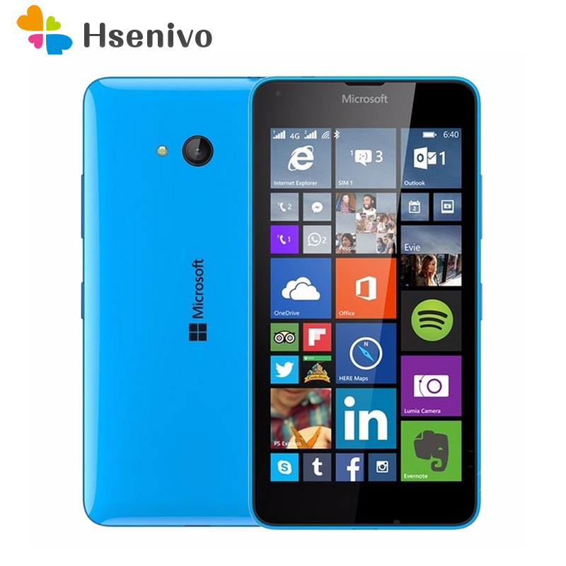 100% Original Microsoft Lumia 640 8MP Camera Quad core 8GB ROM 1GB RAM mobile phone LTE FDD 4G 5.0 1280x720 free shipping