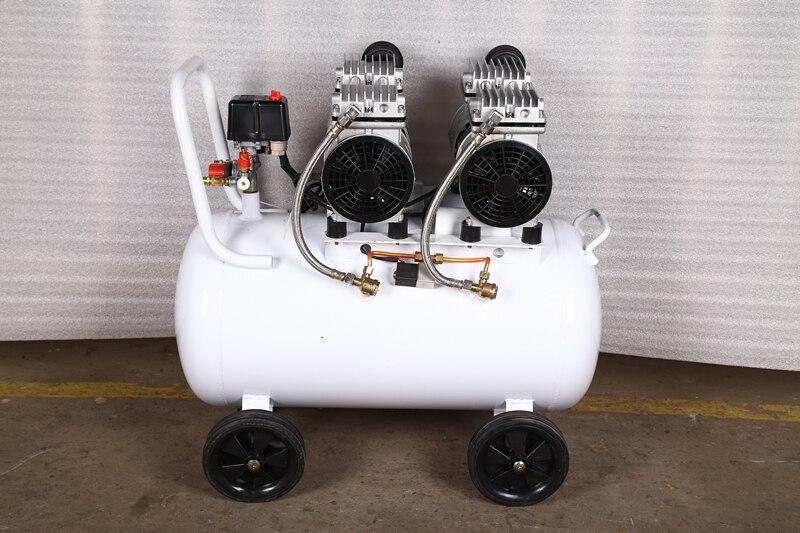 2.2KW 3HP 100L/min Cast iron Oil-free Compressor Air oil free air compressor high pressure gas pump spray woodworking air compressor small pump 3 1100 100l