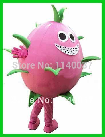NO.1 MASCOT Pink Pitaya Cactus Dragon Fruit Pitaya Mascot Costume Dragon Fruit Pitaya Cartoon Character Fancy Dress