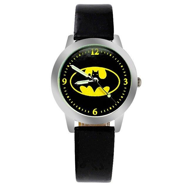 Quartz children's fashion cartoon Batman wrist watch for boys students christmas