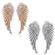 Women's   Angel Wings Crystal Ear Studs Luxury Earrings Jewelry